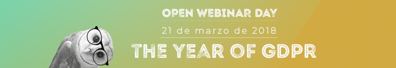 OPEN WEBINAR DAY - GDPR